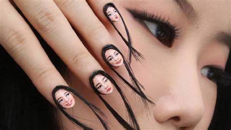 imagenes de uñas geniales instagram estas u 241 as con pelo son la cosa m 225 s bizarra que