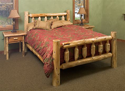 log beds cedar log bed kits headboard only rustic furniture mall by timber creek