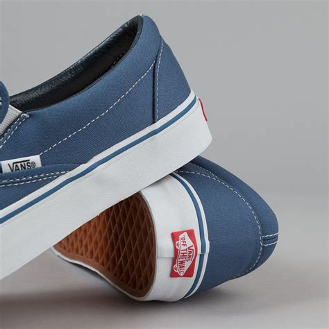 Slip On Navy vans classic slip on navy flatspot