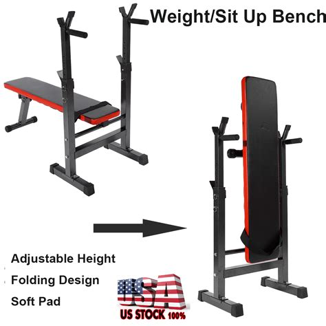 adjustable foldable weight bench gym workout home fitness
