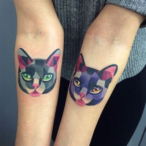 matching cat tattoos designs ideas and meaning tattoos