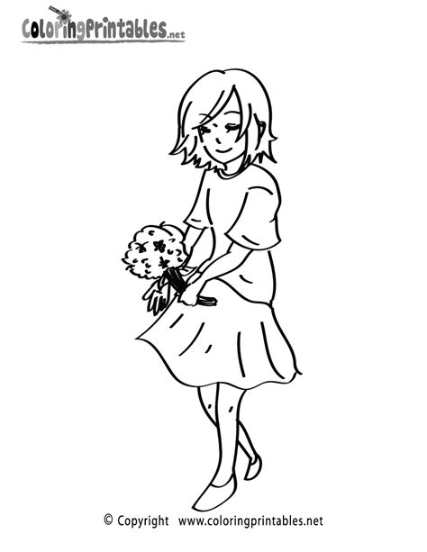 coloring pages flower girl free printable girl flowers coloring page