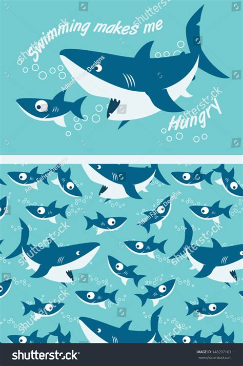 save pattern ai sharks swimming illustrator swatch of repeat pattern