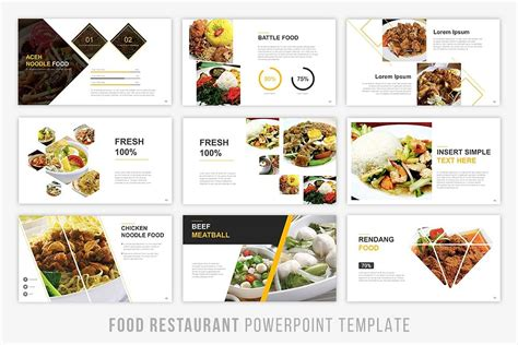 Food Presentation Powerpoint Graphic Food Presentation Template