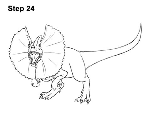 dilophosaurus coloring page coloring coloring pages