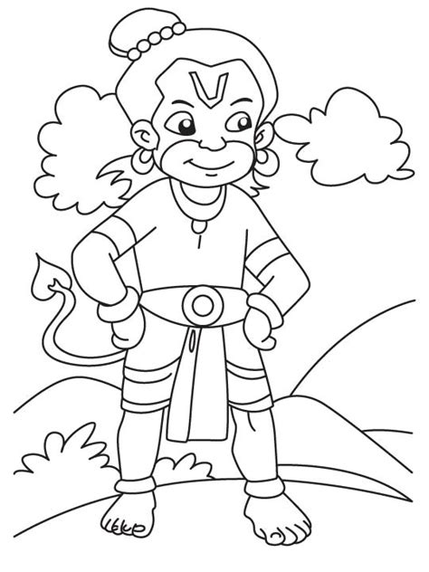 lord hanuman free colouring pages