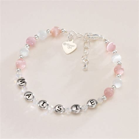 any name bracelet with message charm jewels 4
