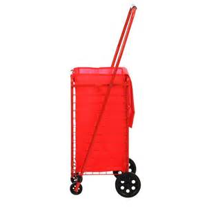 folding shopping cart home depot sandusky 4 wheel utility cart with liner fsc3012 the