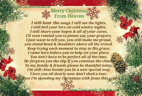 christmas with jesus this year in heaven quotes and poems quotesgram