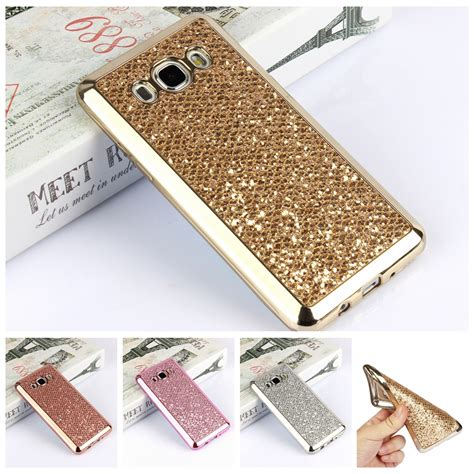 Hardcase Tipis Samsung J7 Plus Baby Skin Cover luxury glitter bling tpu for samsung galaxy s4 s5 s6