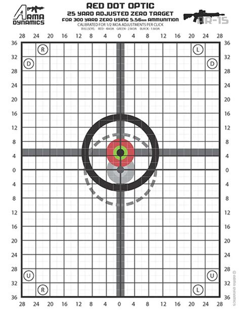 printable targets for zeroing free printable zero targets optimized for red dot style