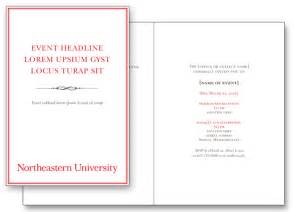 program templates for events print design guides branding guidelines northeastern