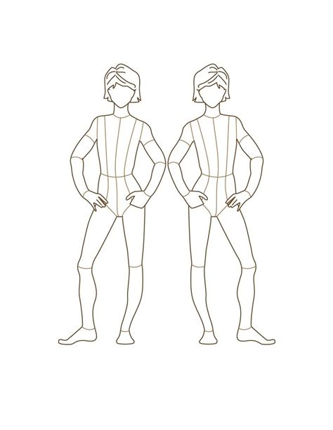1000 Images About Template Design Croquis On Pinterest Croquis Female Fashion And Model Template For Designing Clothes
