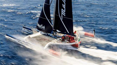 trimaran transatlantic maserati takes to the sea with trimaran for transatlantic race