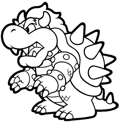 coloring page bowser bowser jr free coloring pages