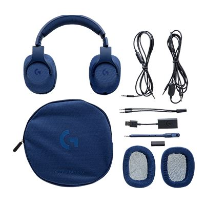 Headset Logitech G433 audio headphones logitech g433 7 1 wired surround gaming headset blue hachi tech