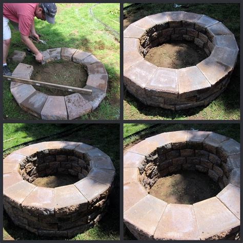 Diy Firepit For 30 Geopolymer House Blog How To Build A Firepit With Pavers