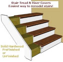 Stair Risers And Treads by Replacement Stair Treads And Riser Covers Stair Treads