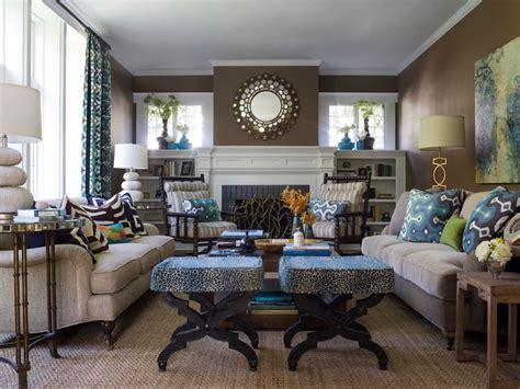 Superior Blue Living Room Designs #1: Contemporary-Blue-and-Brown-Living-Room.jpg
