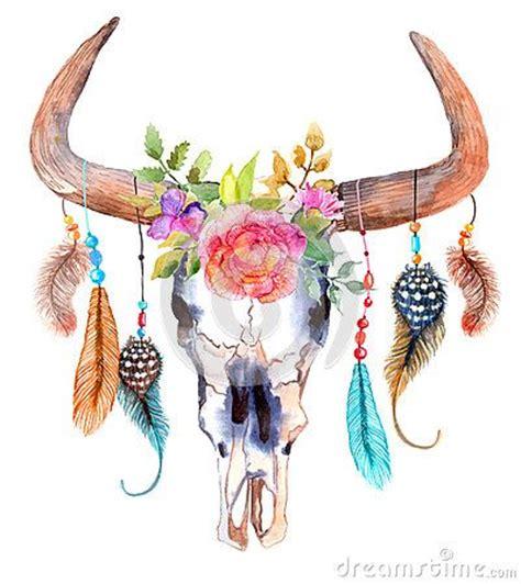 Best 25 Bull Skull Tattoos Ideas On Pinterest Bull Bull Skull Tattoos With Feathers