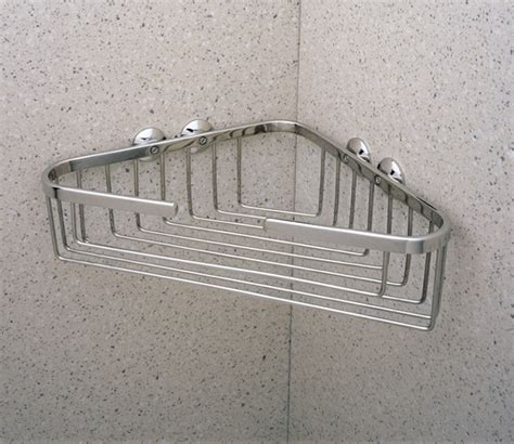rohl country mounted large corner basket bathroom shelf