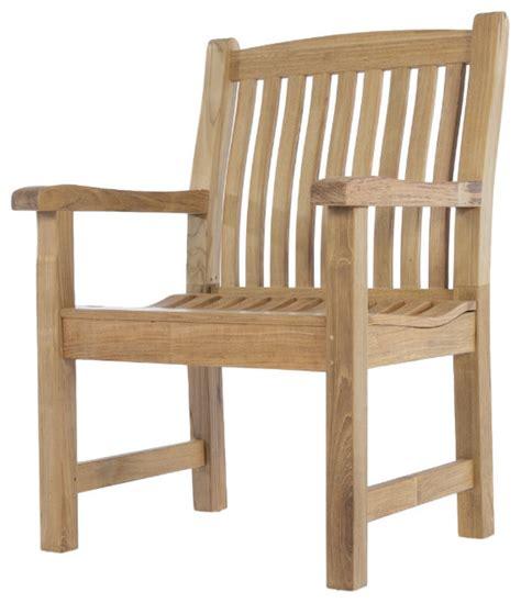 teak outdoor armchairs veranda teak armchair traditional outdoor dining
