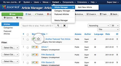 joomla article tutorial joomla featured articles detailed tutorial