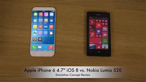 iphone 6 themes for nokia apple iphone 6 4 7 quot ios 8 vs nokia lumia 520 windows