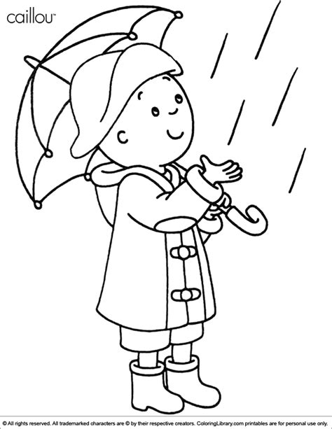 Caillou Color Pages Coloring Home Caillou Coloring Page