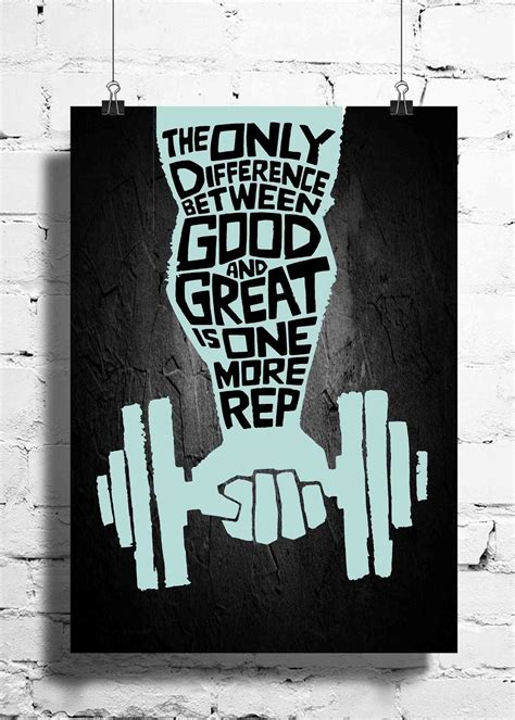 wal poster workout motivation the only difference wall posters