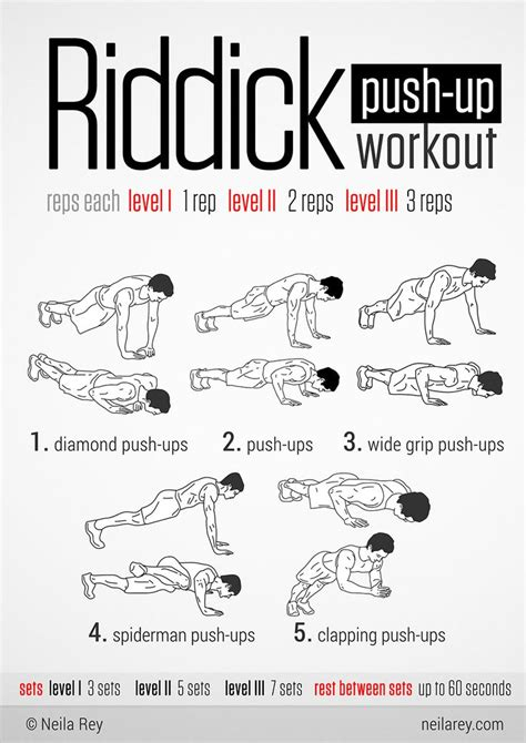 riddick push up workout gets ur chest n burning