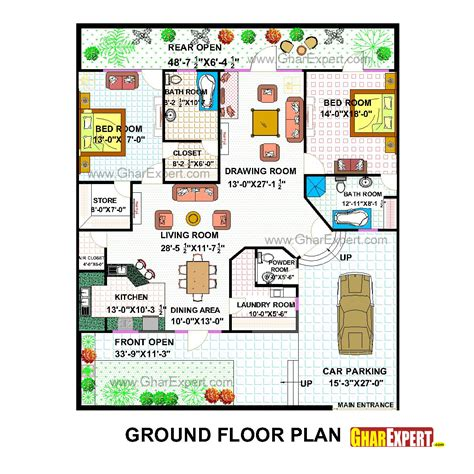 pent house plan for 50 by 60 plot plot size 333