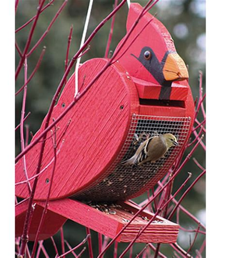Cardinal Bird Feeder Plans duncraft wooden cardinal shape bird feeder