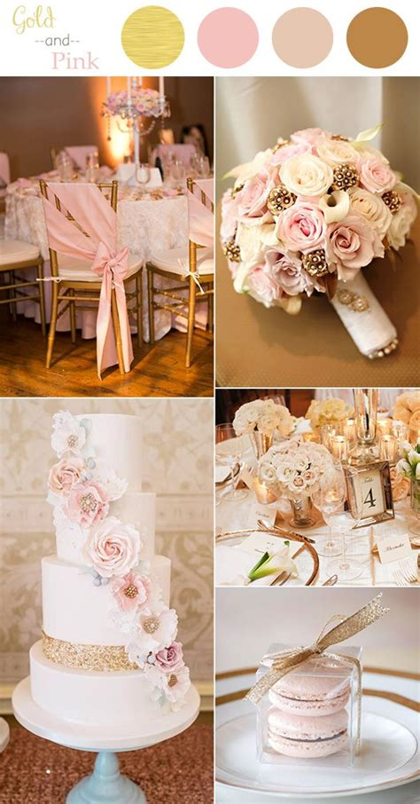 wedding colors 2016 10 color combination ideas to pink and gold wedding theme