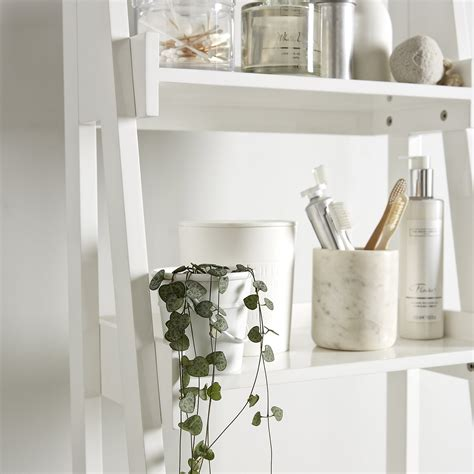 Bathroom Ladder Shelf White Goodglance Bathroom Shelves White