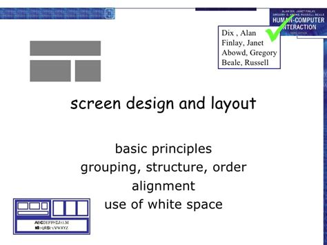 Screen Design And Layout In Hci | hci 3e ch 5 interaction design basics
