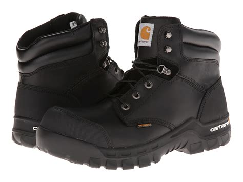 rugged boots for carhartt 6 quot rugged flex waterproof boot in black for lyst