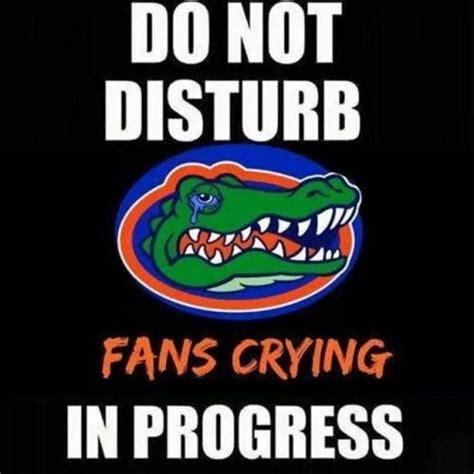 Funny Florida Gator Memes - do not disturb fans crying in progress