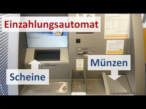 einzahlungsautomat deutsche bank einzahlung bargeld bei der comdirect anleitung