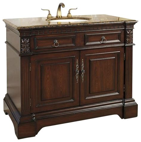 42 inch traditional single sink bathroom vanity