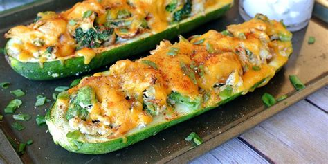 roasted zucchini boat recipes broccoli chicken zucchini boats ruled me
