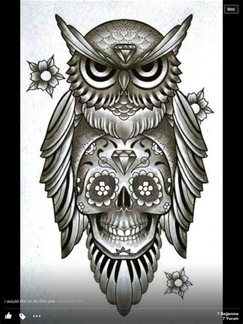 sugar owl tattoo design owl n skull things i love pinterest body art and tattoo