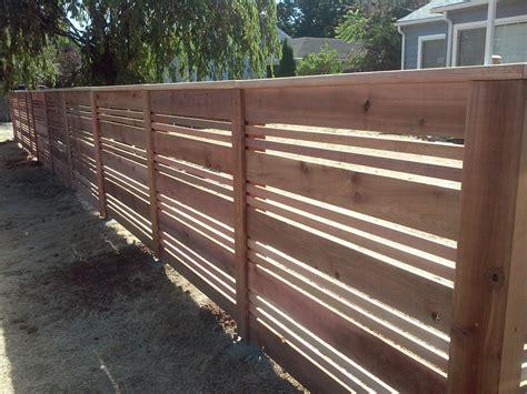 Horizontal Wood Fence Design Custom Horizontal Wood Fences Portland Or Horizontal Fence Design Installation And Repair