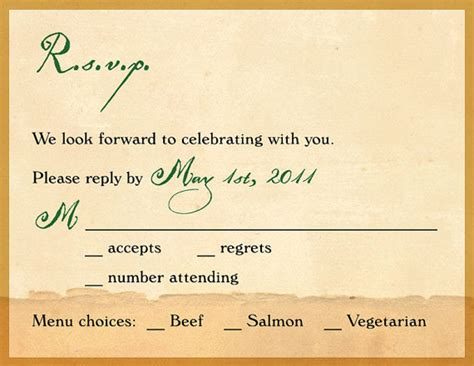 response card template 6 per page rsvp invitation template invitation template