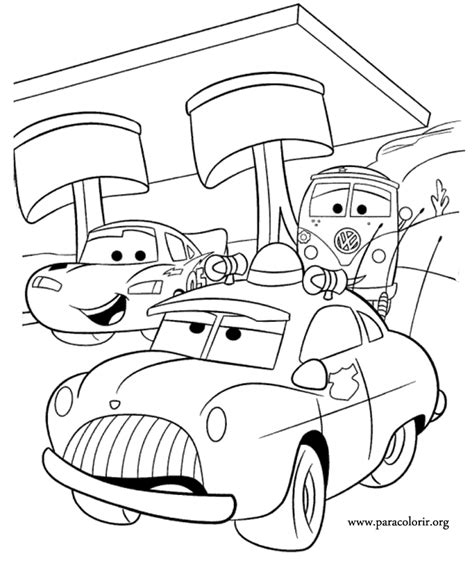 sheriff cars coloring pages cars movie lightning mcqueen sheriff and fillmore