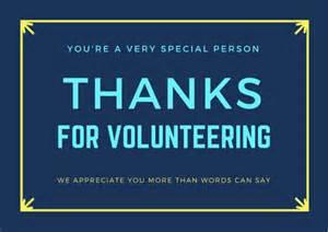 volunteer thank you cards free printables