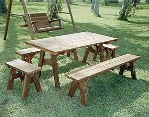 plans for picnic tables with separate benches quick woodworking projects