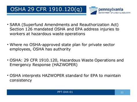 29 cfr 1910 section 120 hazardous materials awareness by pa l i