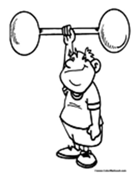 human lifting weights coloring page coloring pages