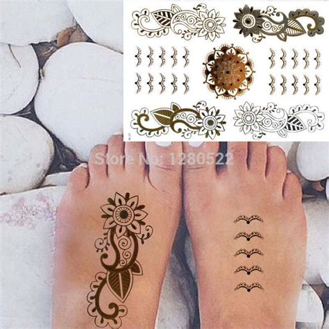 henna tattoos locations aliexpress buy 2 sheets fashion temporary flash